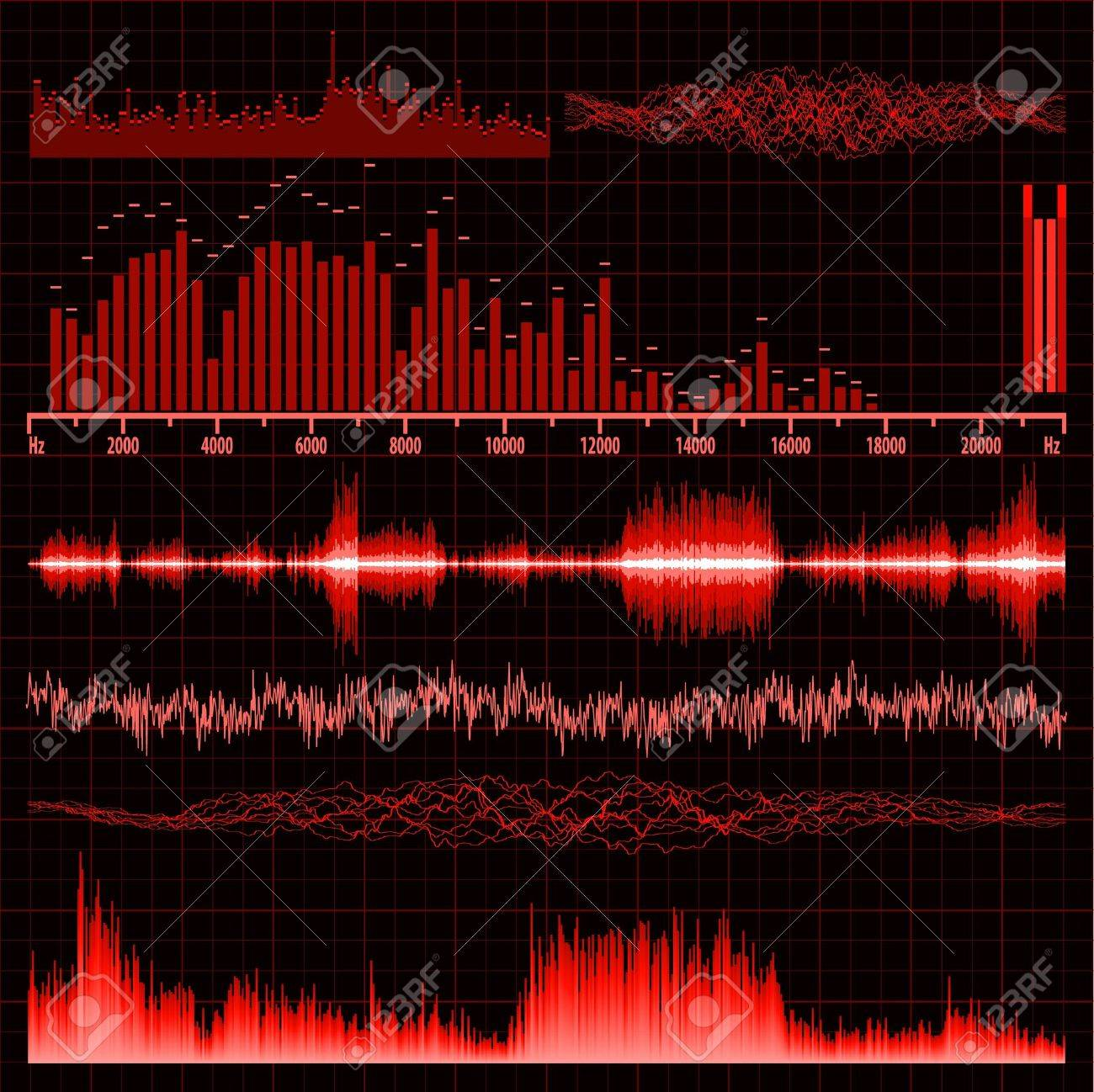 Sound waves set. Music background. EPS 8 vector file included Stock Vector - 9910162