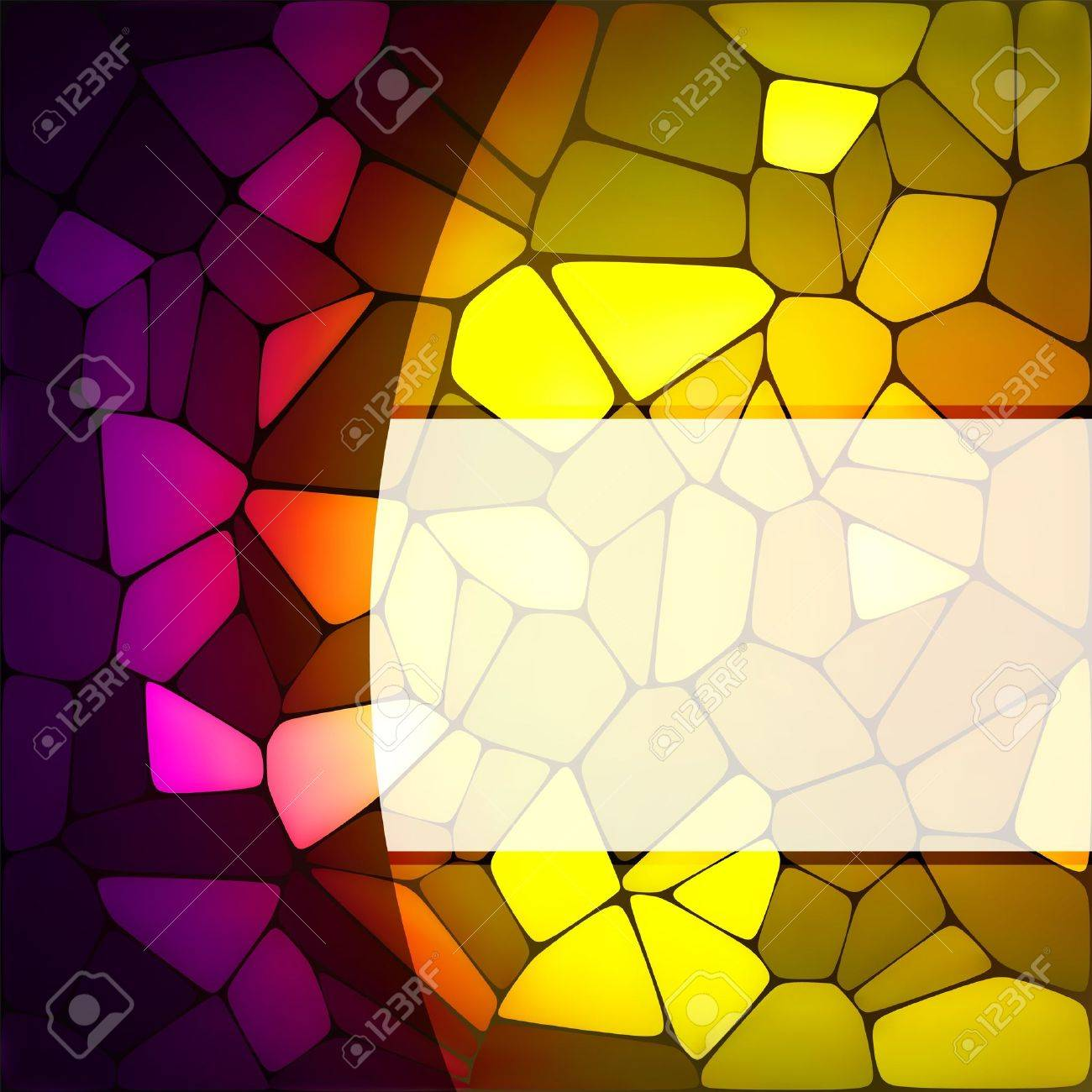 Stained glass design template. EPS 8 vector file included Stock Vector - 9910158