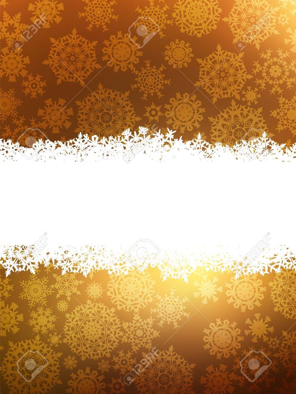 Elegant gold christmas background. - 10076065