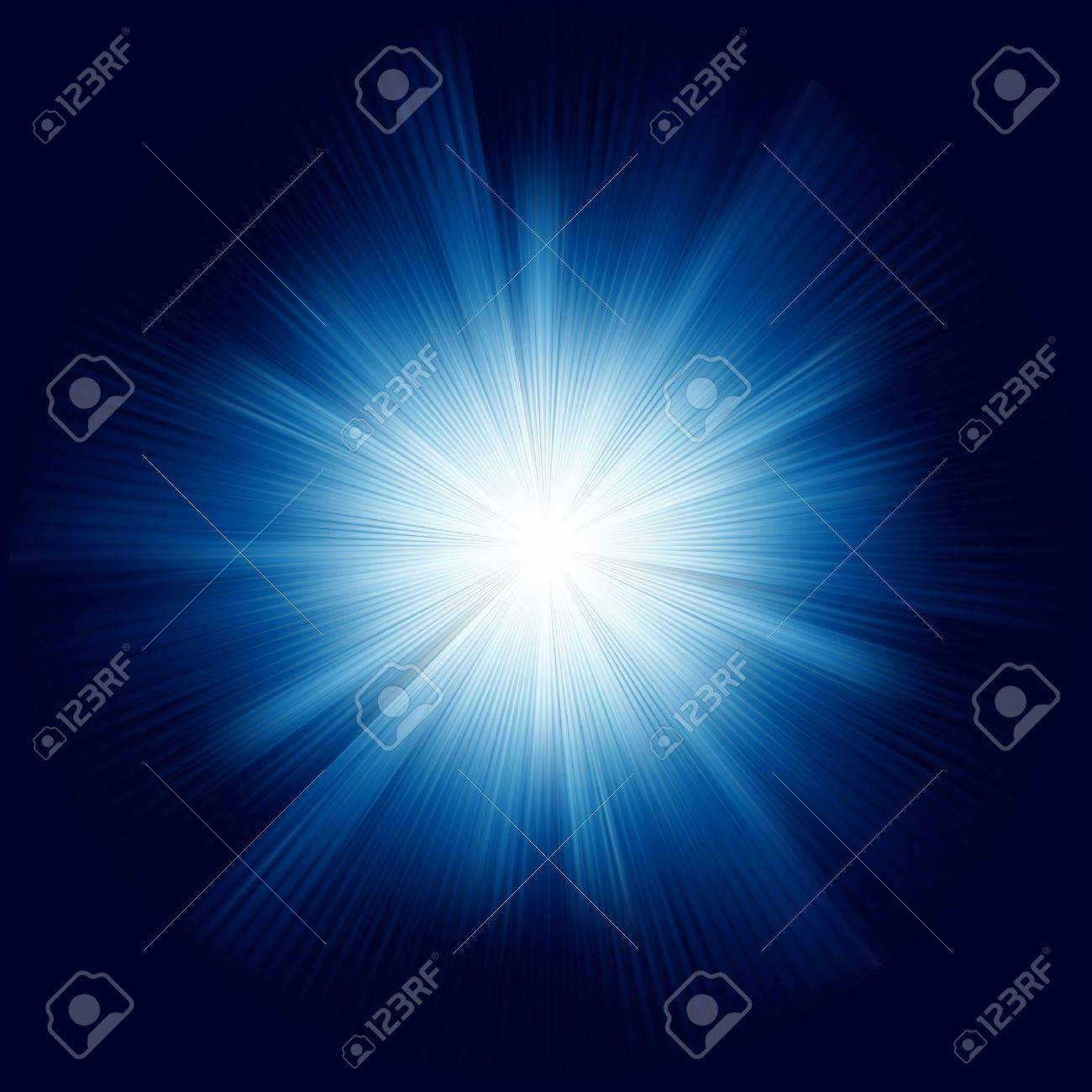 A Blue color design with a burst. EPS 8 vector file included Stock Vector - 10261626