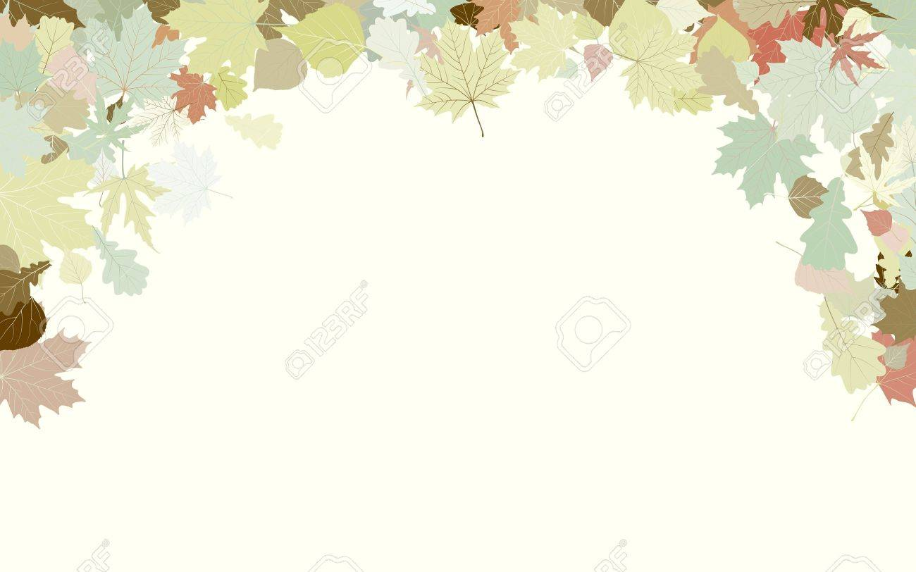Background with frame with Autumn Leafs. Thanksgiving. Stock Vector - 10268975