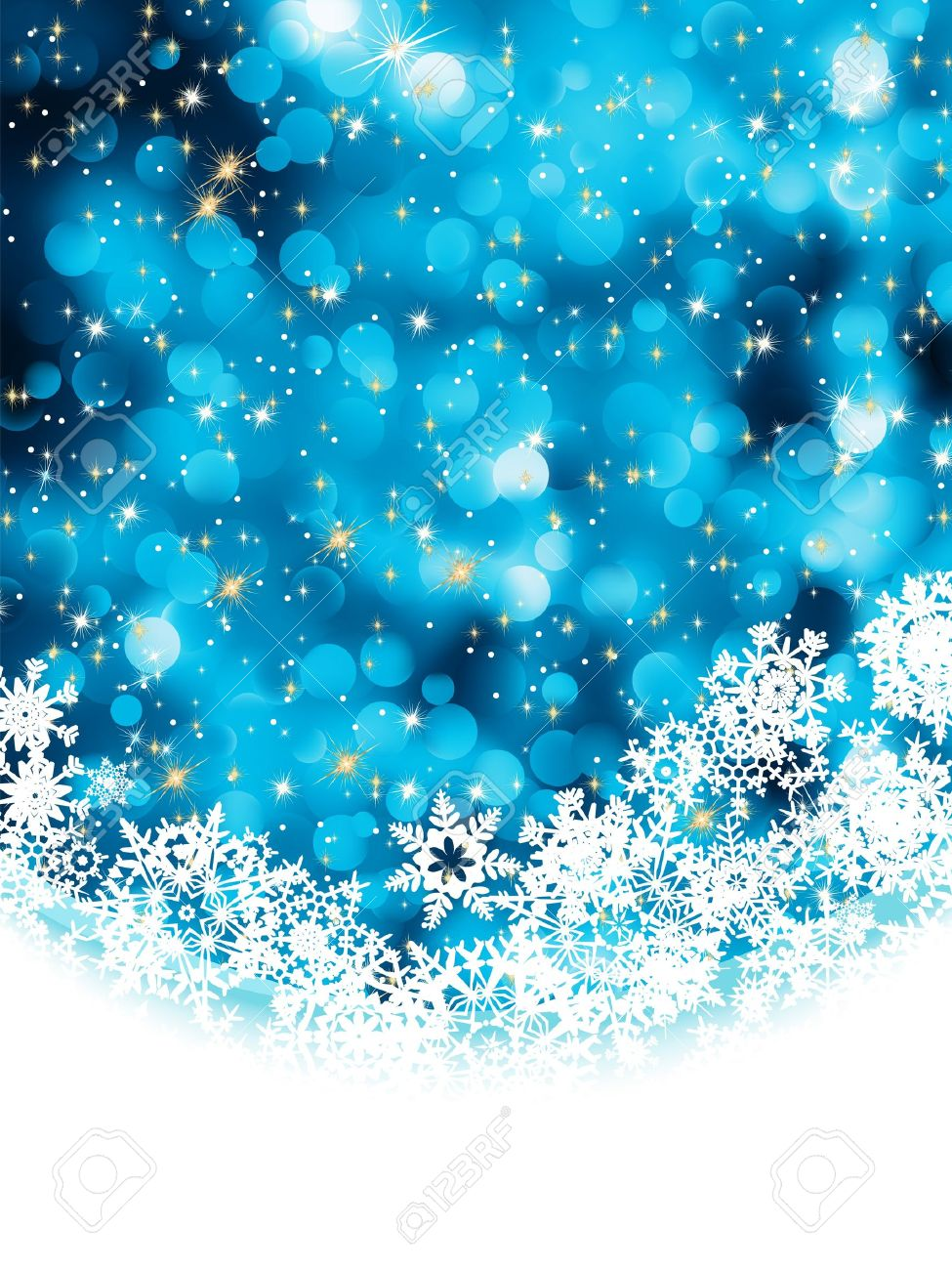 Blue abstract christmas background with snowflake. EPS 8 vector file included Stock Vector - 10473711