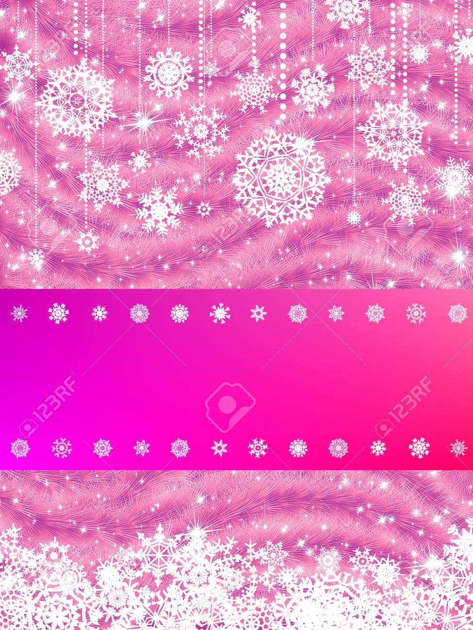 Elegant new year and cristmas card template. EPS 8 vector file included Stock Vector - 10718693