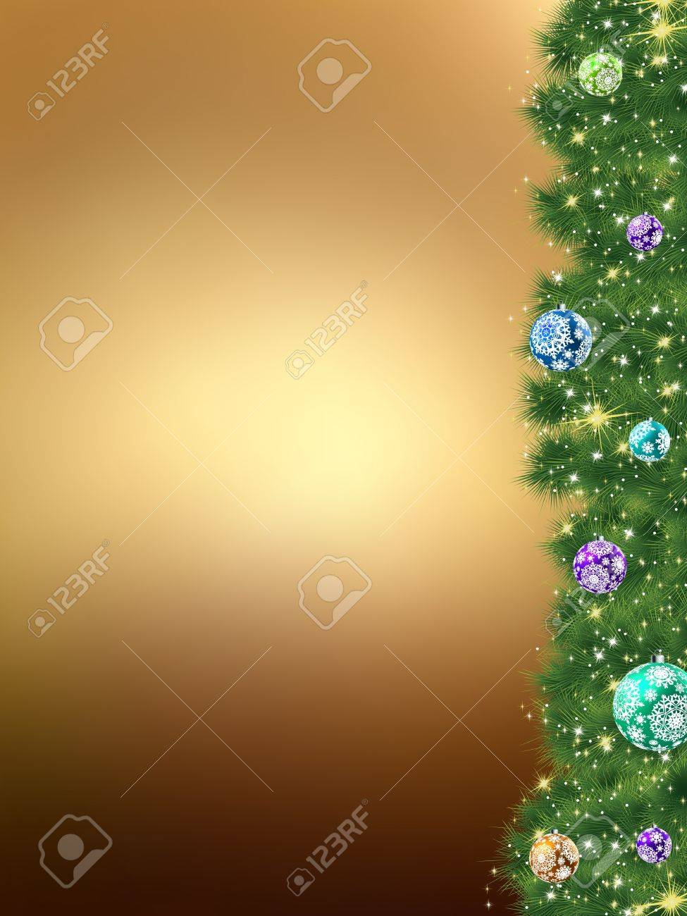 Thank you card a bright christmas background of fur. Stock Vector - 10746332
