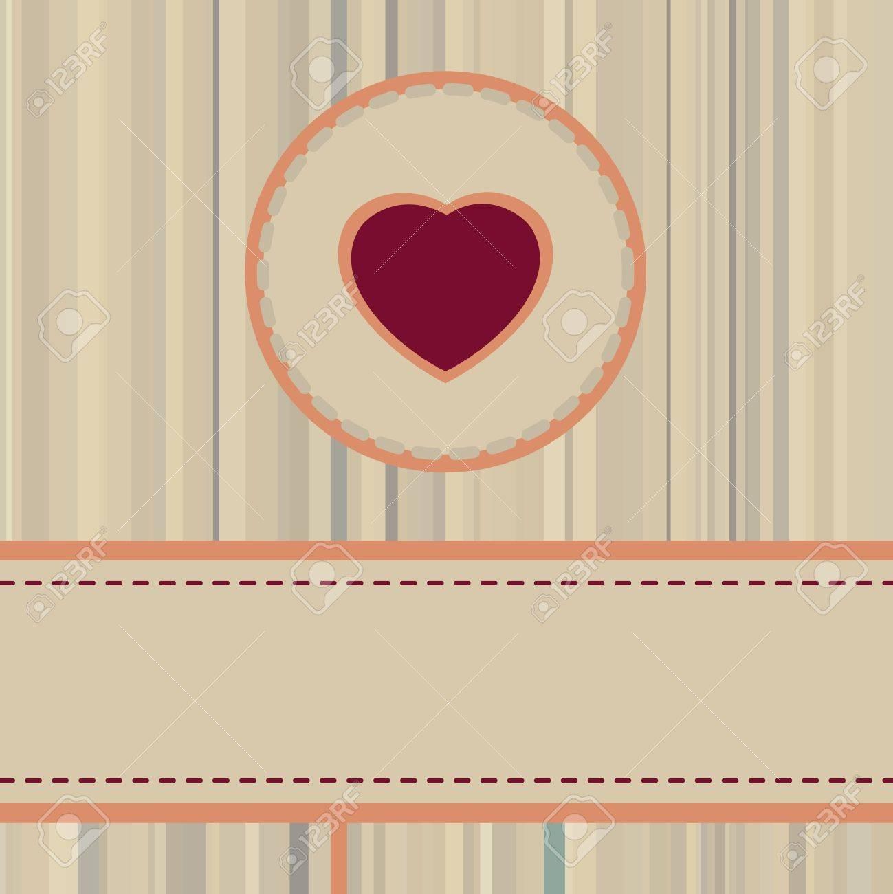 Vintage valentine Card or package design. Stock Vector - 11585360