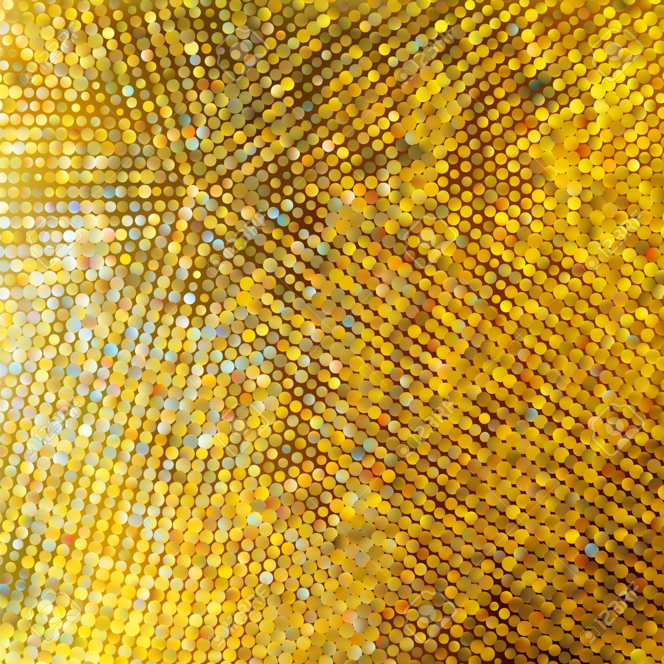 Golden mosaic. Abstract background. Stock Vector - 11585426