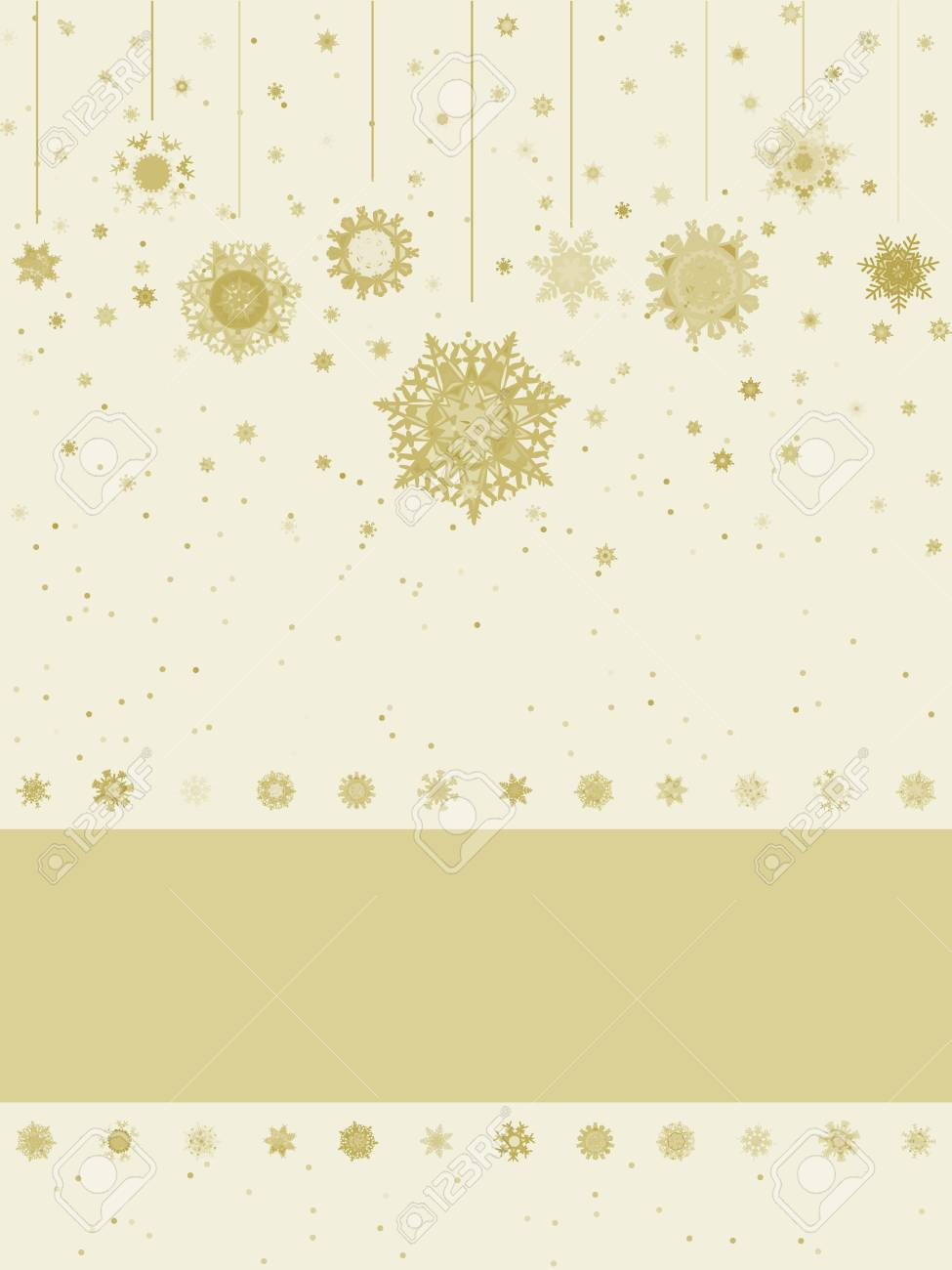 Christmas greeting card with snowflakes. Stock Vector - 11810531