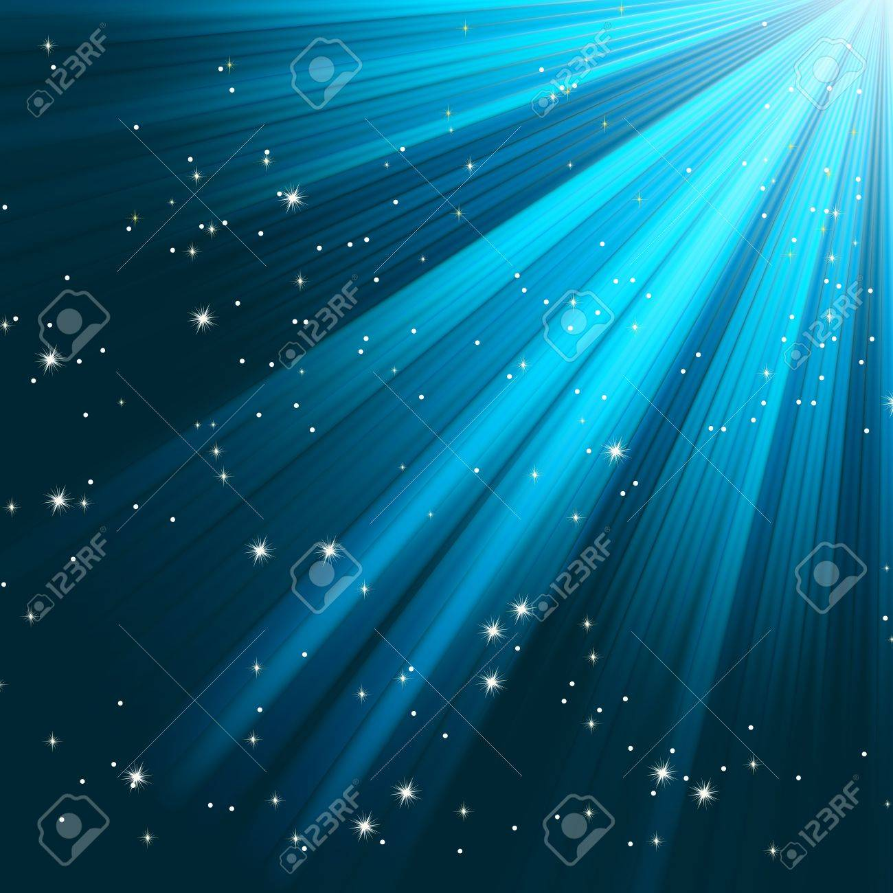 Blue luminous rays. EPS 8 vector file included Stock Vector - 12054148