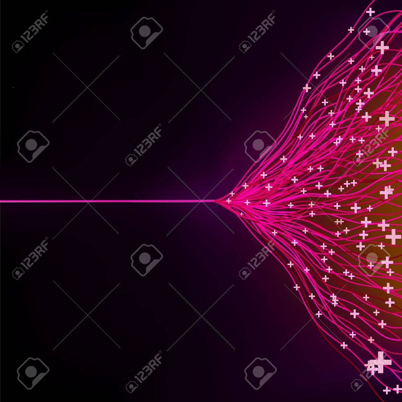 Futuristic abstract glowing background resembling motion blurred neon light curves Stock Vector - 12489829