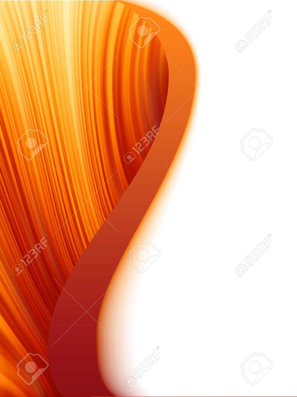 Orange red and white abstract wave burst Stock Vector - 12489845