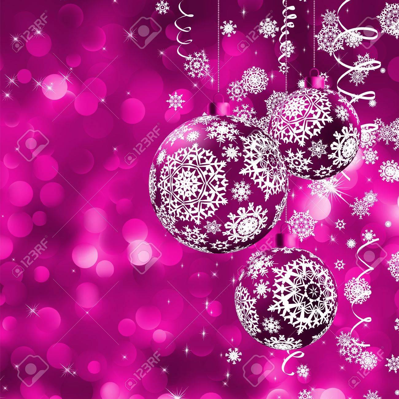 elegante tarjeta de navidad con bolas foto de archivo