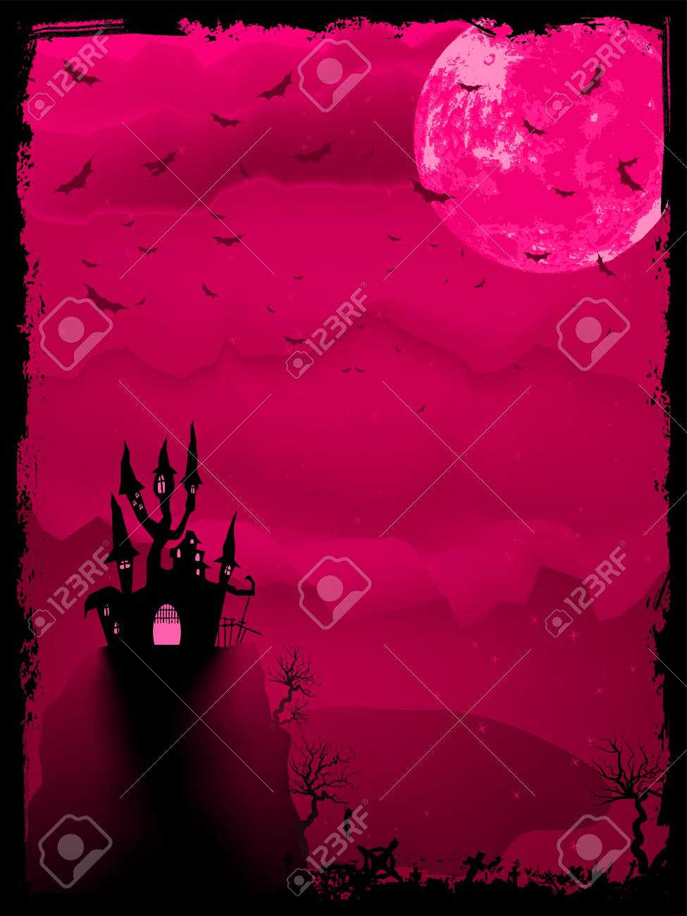 Scary halloween vector with magical abbey  EPS 8 vector file included Stock Vector - 13740202