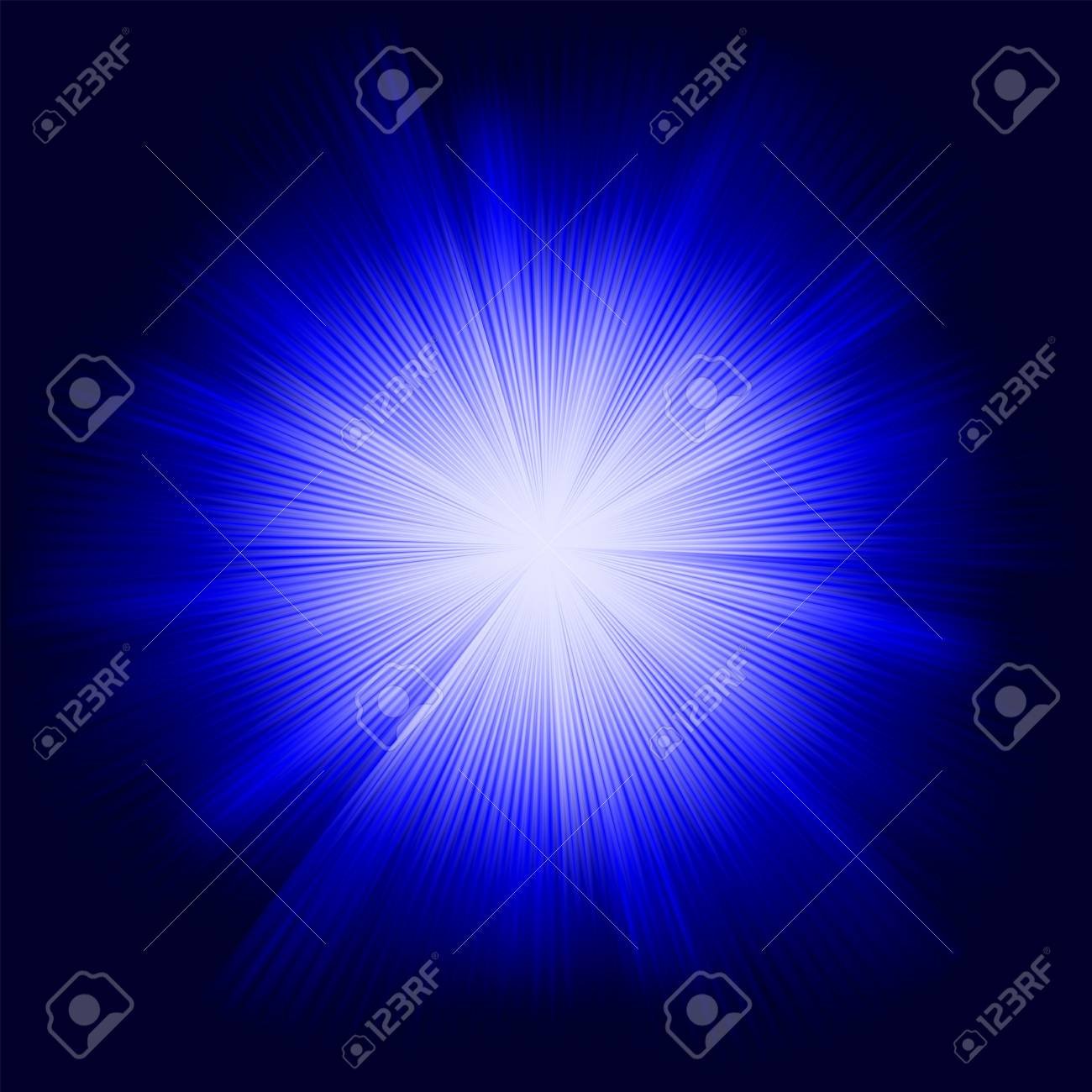 A Blue color design with a burst Stock Vector - 13750794