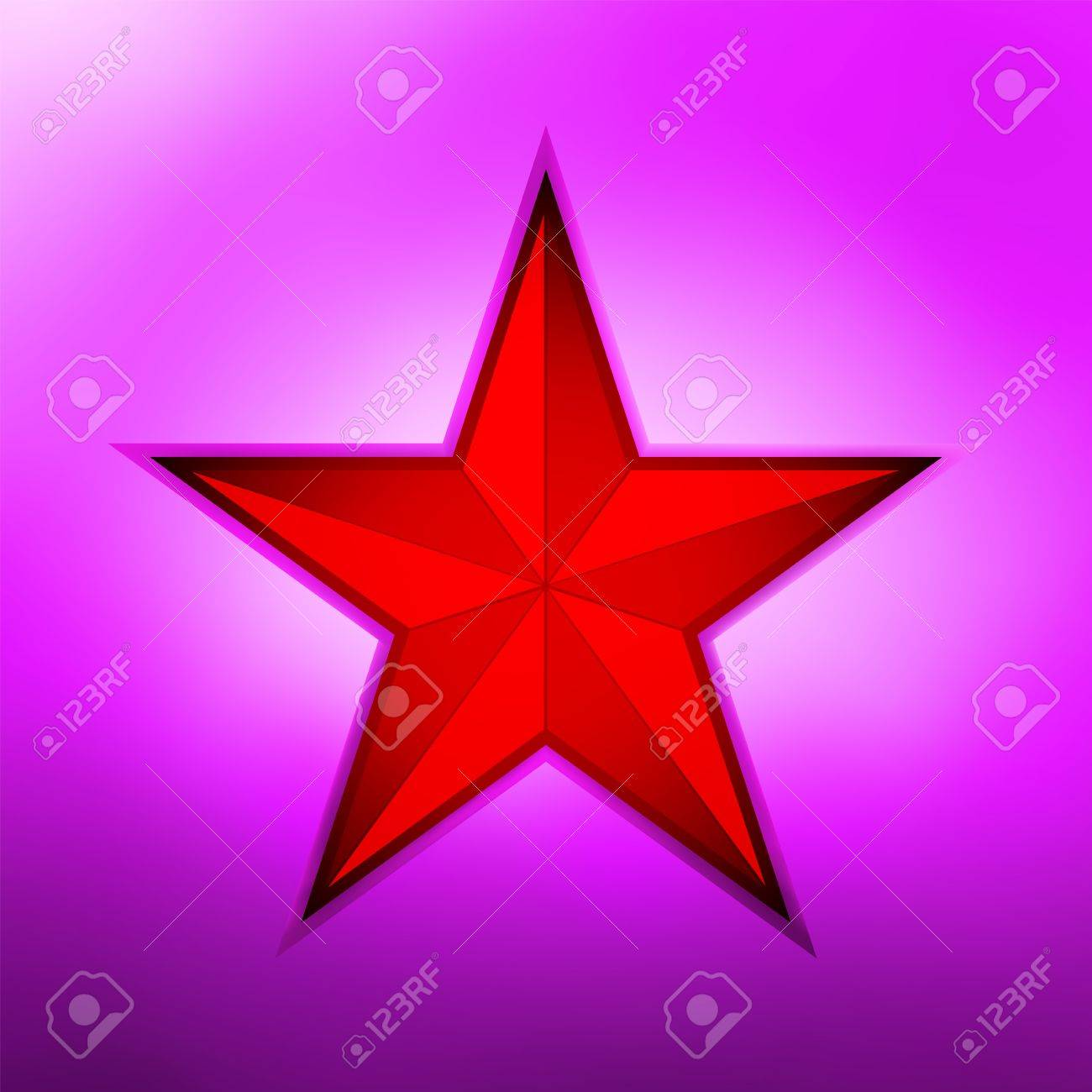 Red metallic star on a purple metallic background file included Stock Vector - 14282768