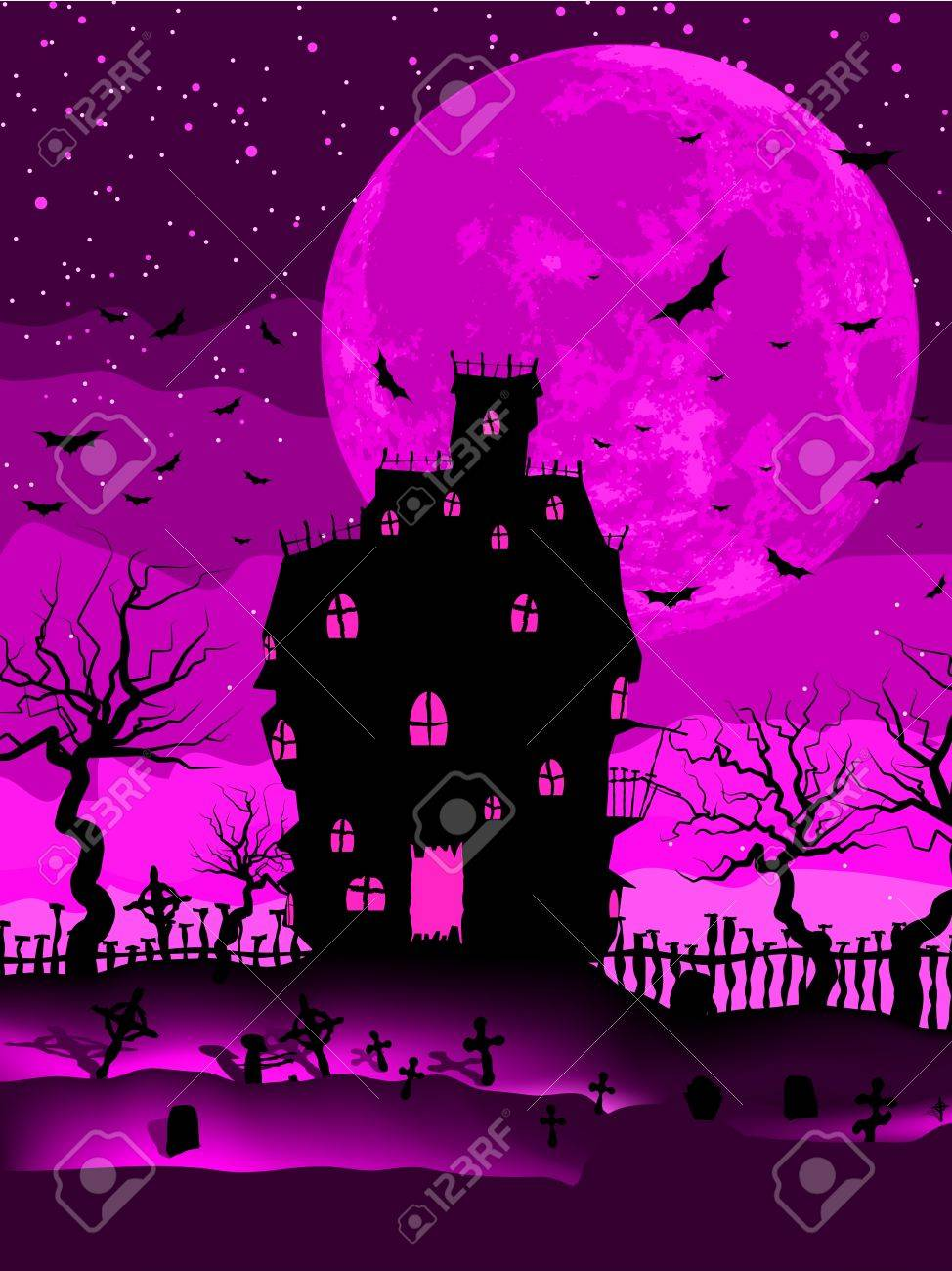 Scary halloween vector with magical abbey  EPS 8 vector file included Stock Vector - 15088267