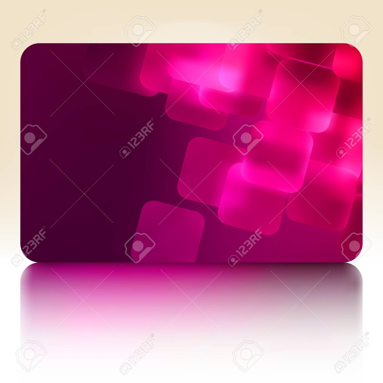 Purple gift card Stock Vector - 15143762