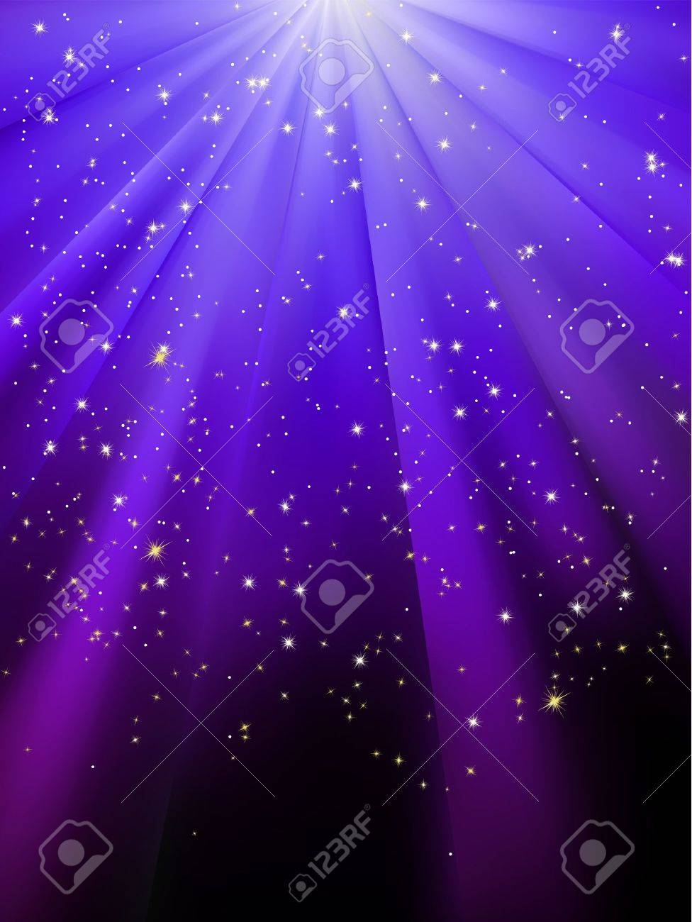 Stars on blue striped background. Festive pattern great for winter or christmas themes. Stock Vector - 15899266