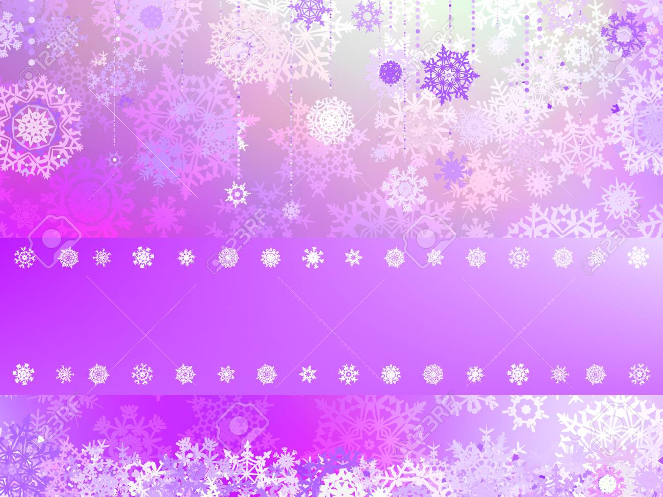 Christmas background with white snowflakes and place for your text Stock Vector - 16250516