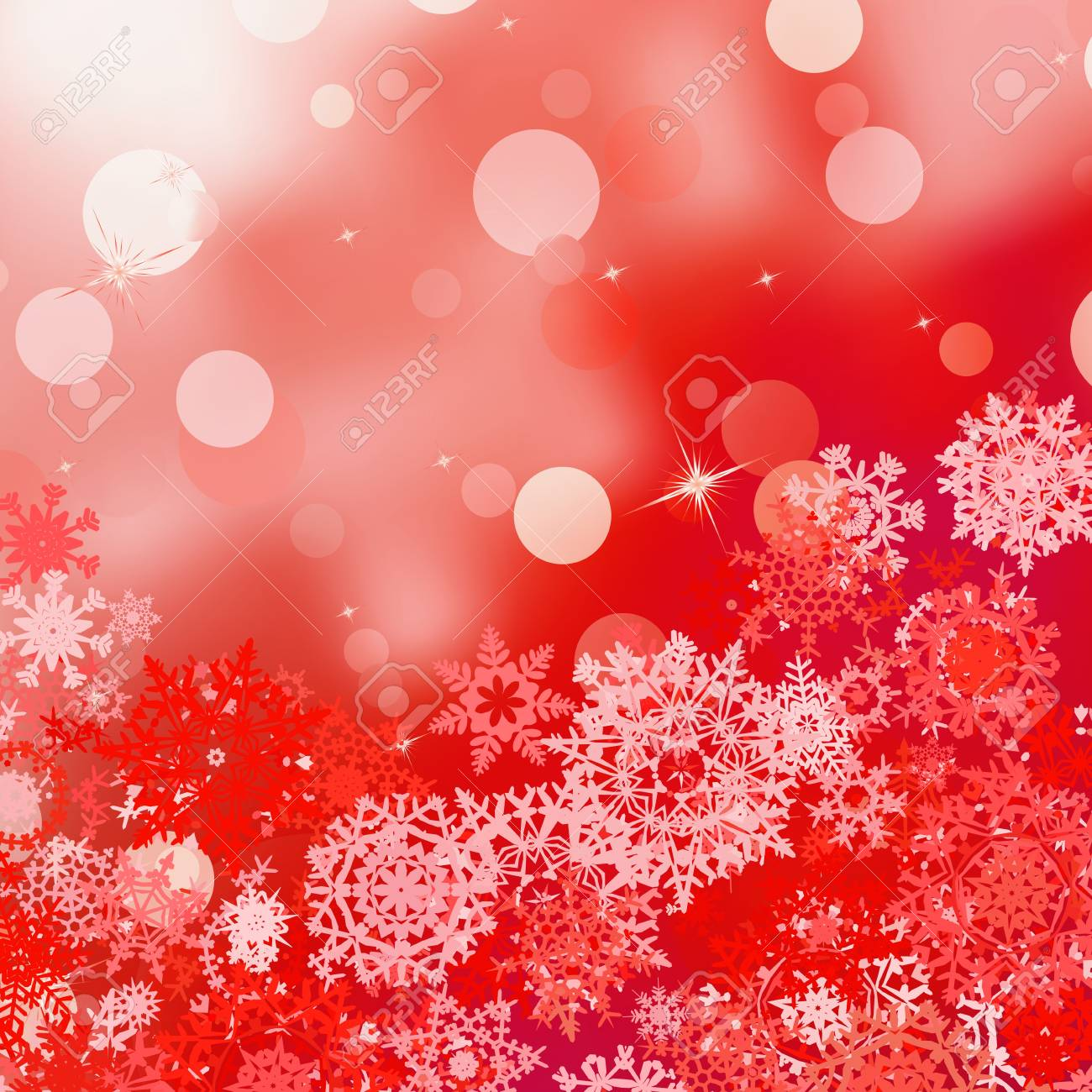 Festive red Christmas abstract background with bokeh lights Stock Vector - 16808770