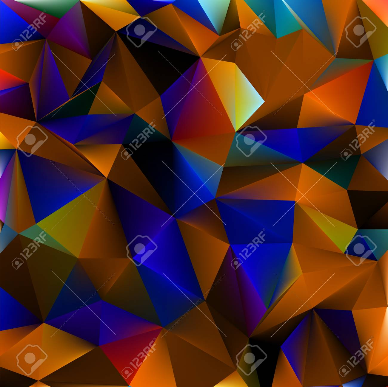 Abstract orange and blue  file included Stock Vector - 17273050