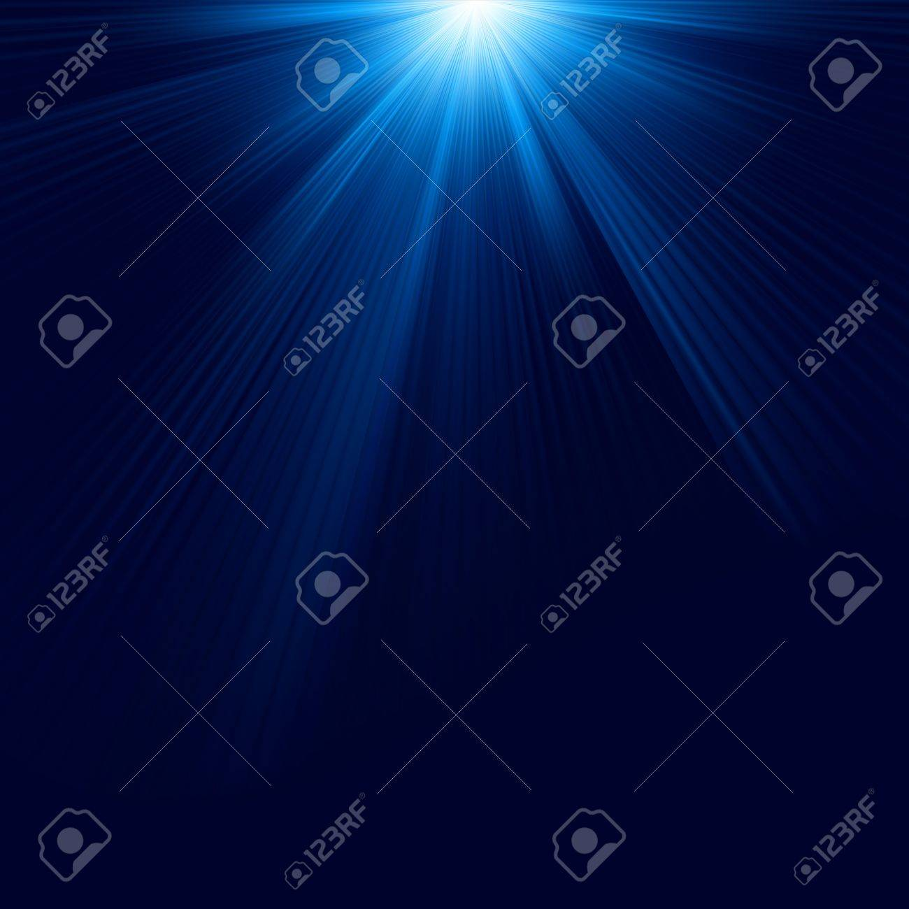 Snow and stars are falling on the background of blue luminous rays file included Stock Vector - 17273014