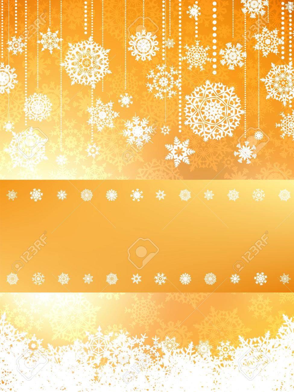 tarjeta de navidad de color naranja foto de archivo