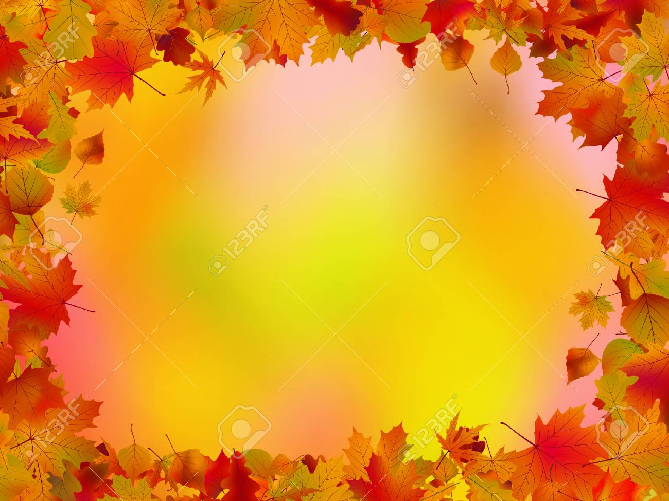 autumn leaves border for your text royalty free cliparts vectors