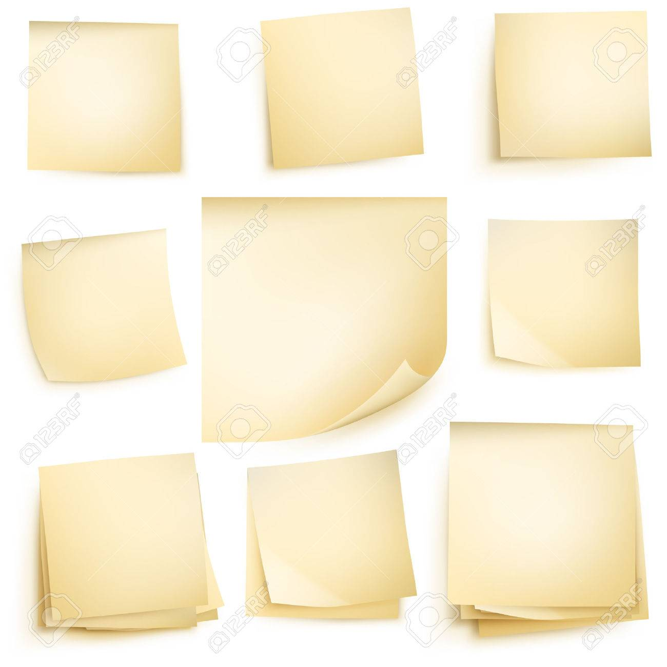 Post it notes isolated on white background. vector file included - 40103616