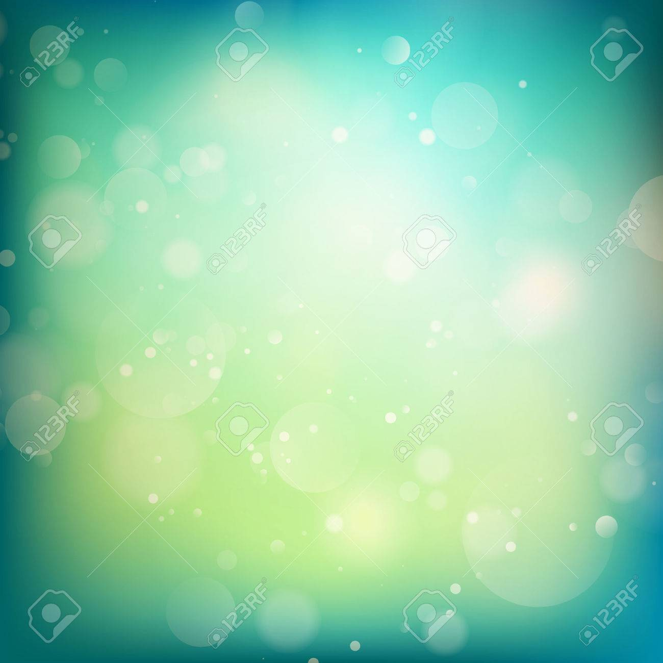 Blue and green defocused lights background. abstract bokeh lights. - 40919664