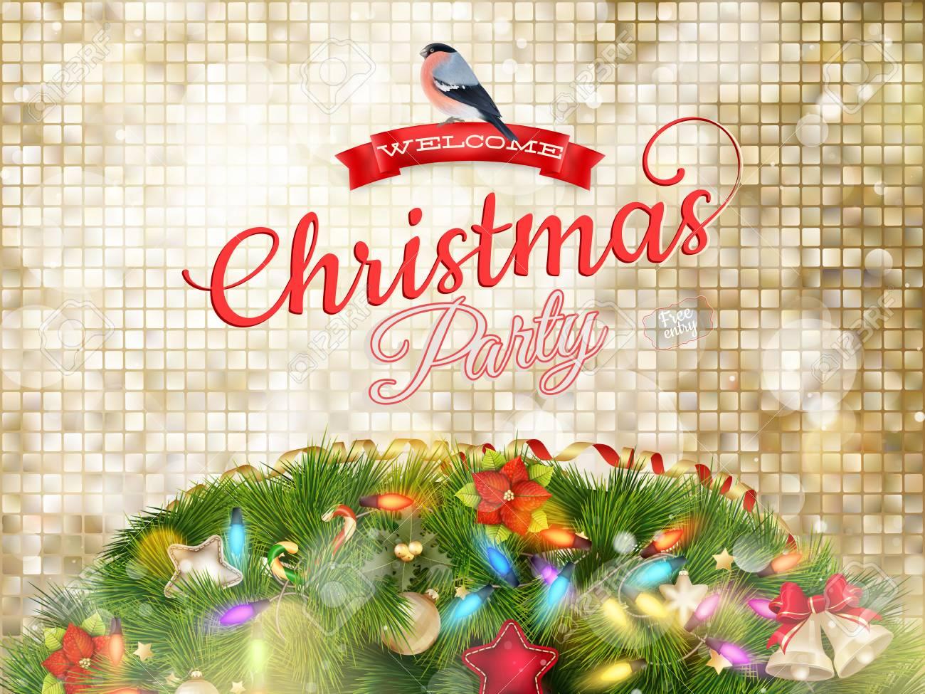 Cartoline Di Auguri Di Natale.Vettoriale Cartolina Di Auguri Di Natale E Sfondo Di Fiocchi Di