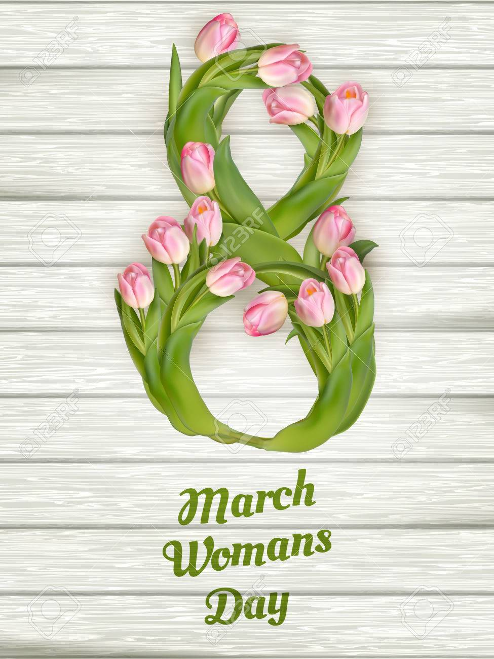 8 March. International Women s Day. Lettering. vector file included - 54144987