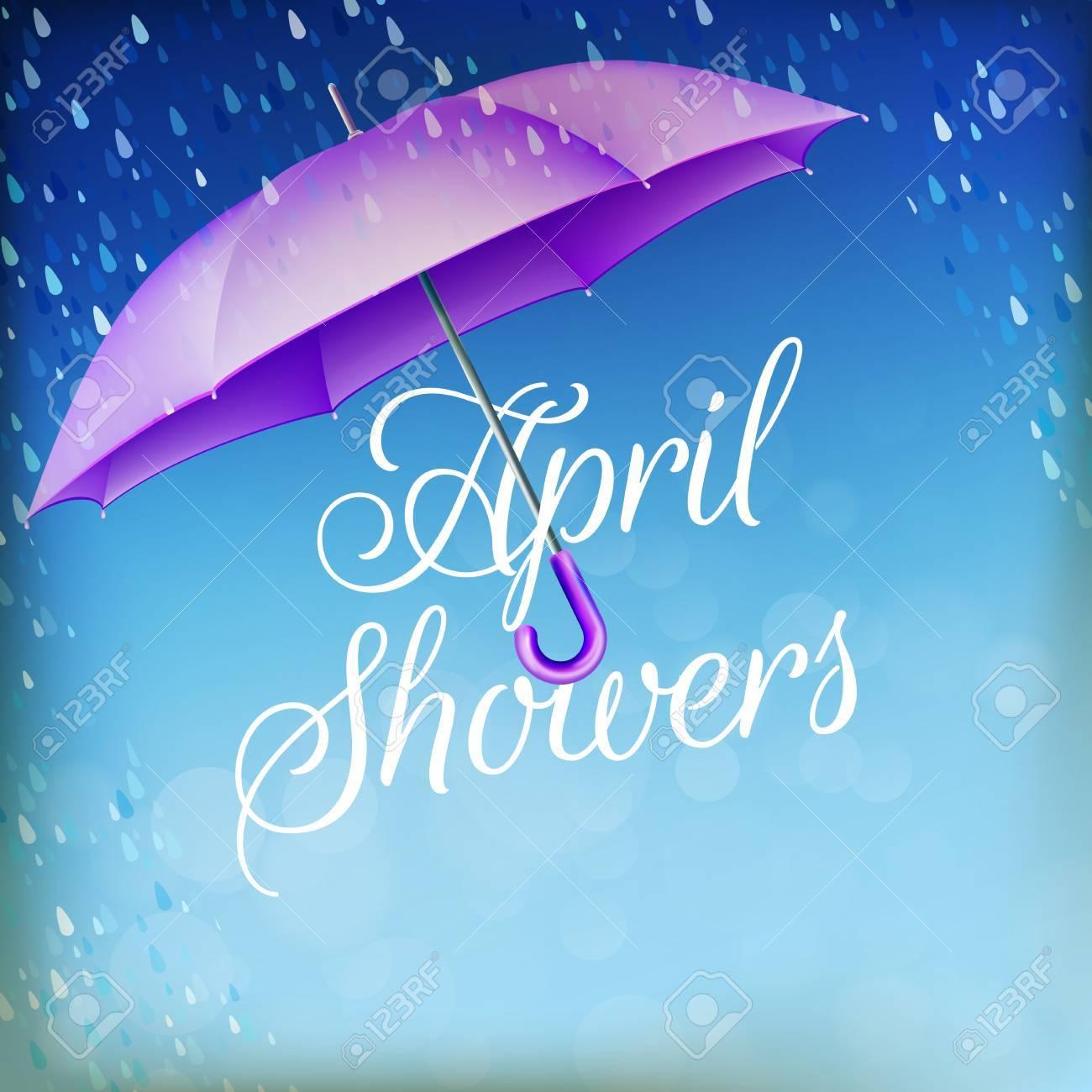 Umbrella in the rain. - 55339018