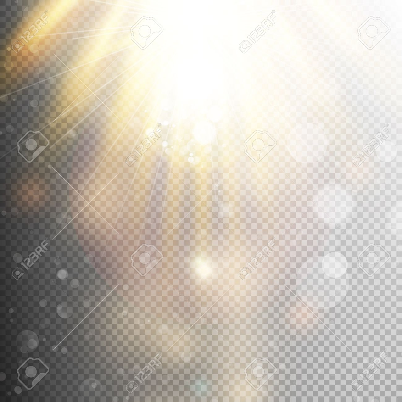 Yellow Warm Light Effect, Sun Rays, Beams On Transparent ... for Sun Light Effect Background  146hul