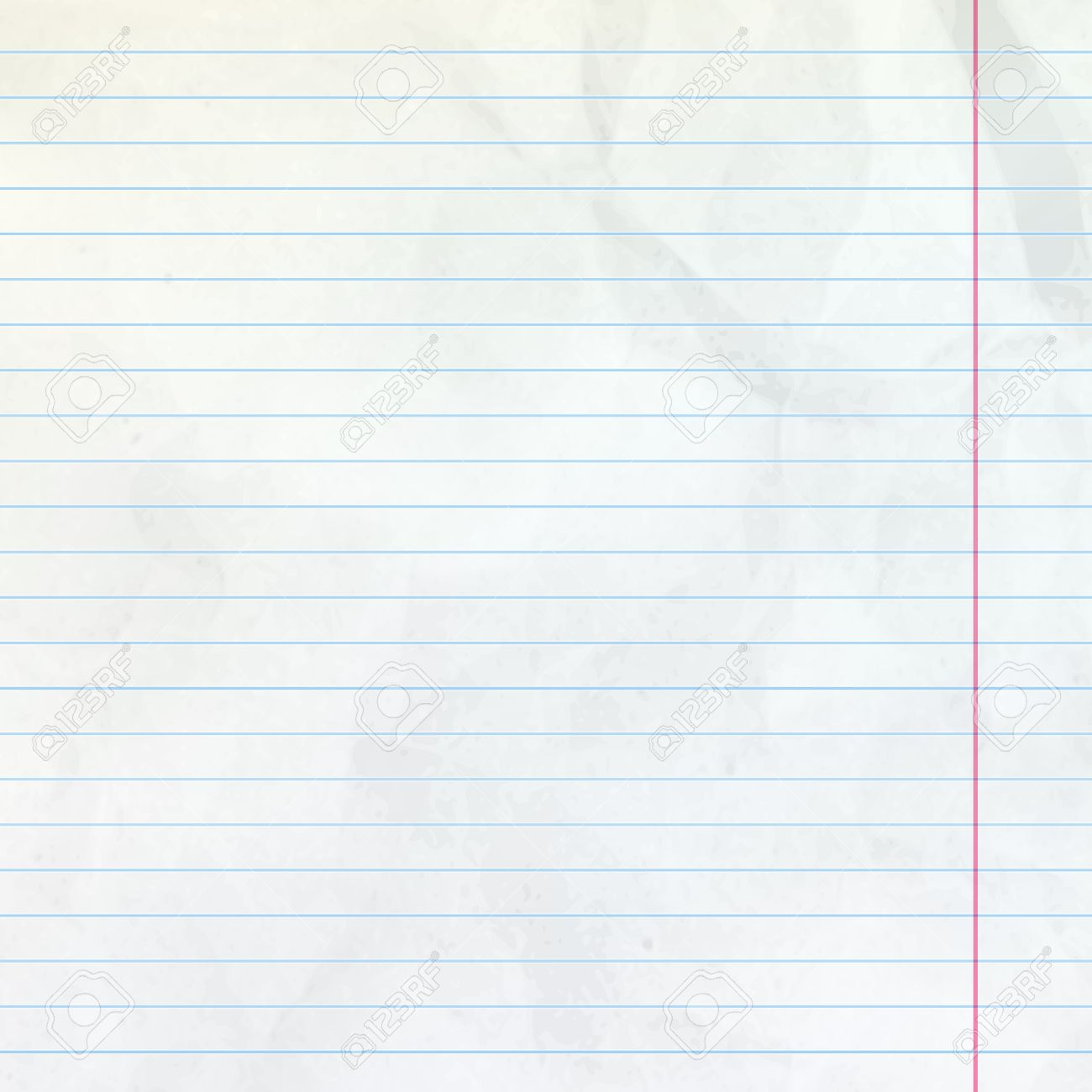 realistic white lined sheet of notepad crumpled paper background