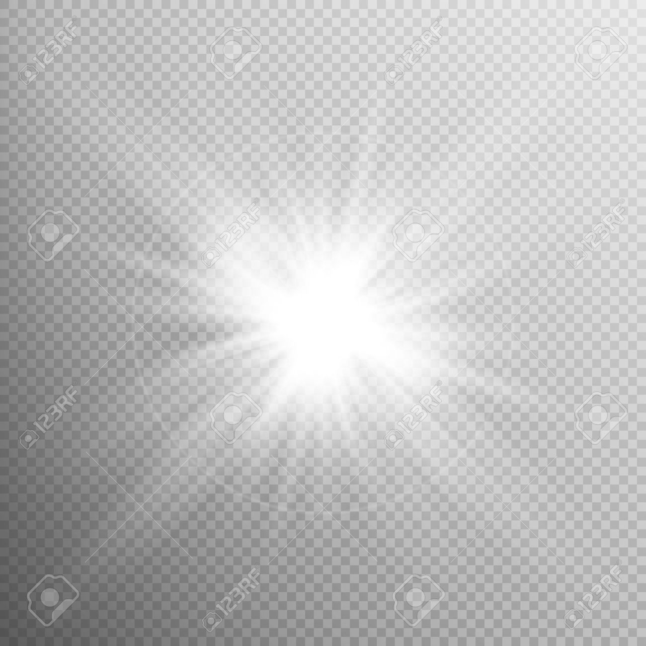 White glowing light burst explosion with transparent. Cool effect decoration with ray sparkles. Transparent shine gradient glitter, bright flare. Glare texture. EPS 10 vector file included - 56473895