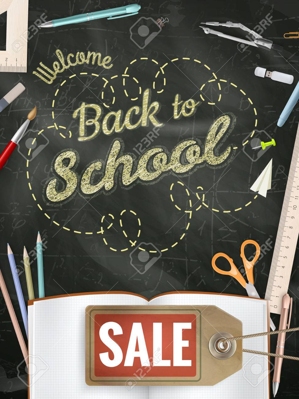 Back to School sale background. - 60195376