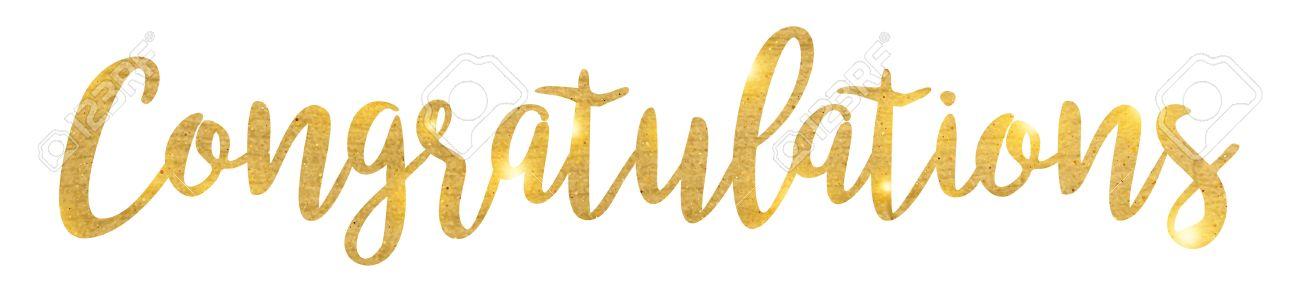 Congratulations. Hand lettering. Modern brush calligraphy. Handwritten phrase. - 60195652