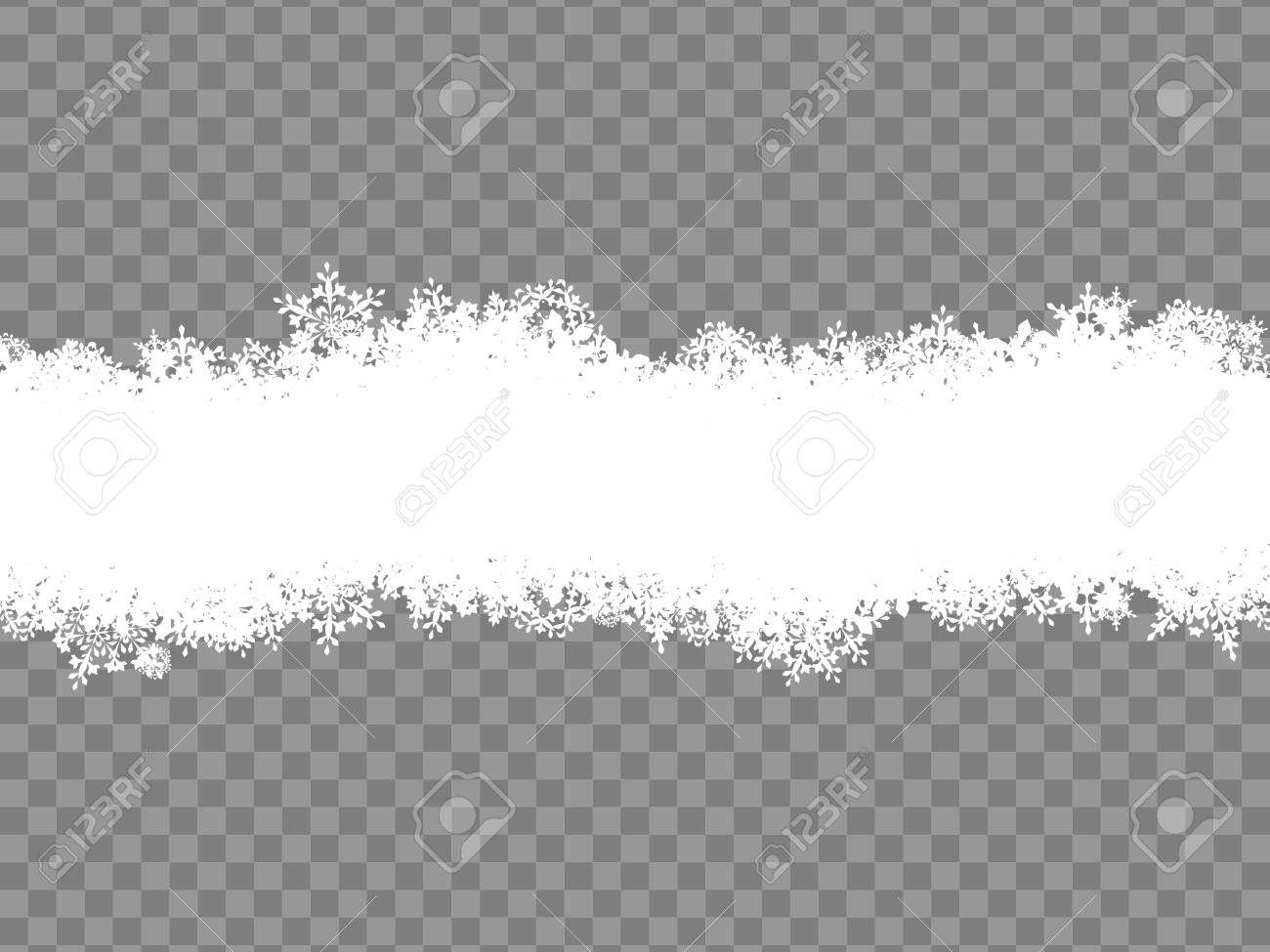 christmas template snowflakes border eps 10 vector file included
