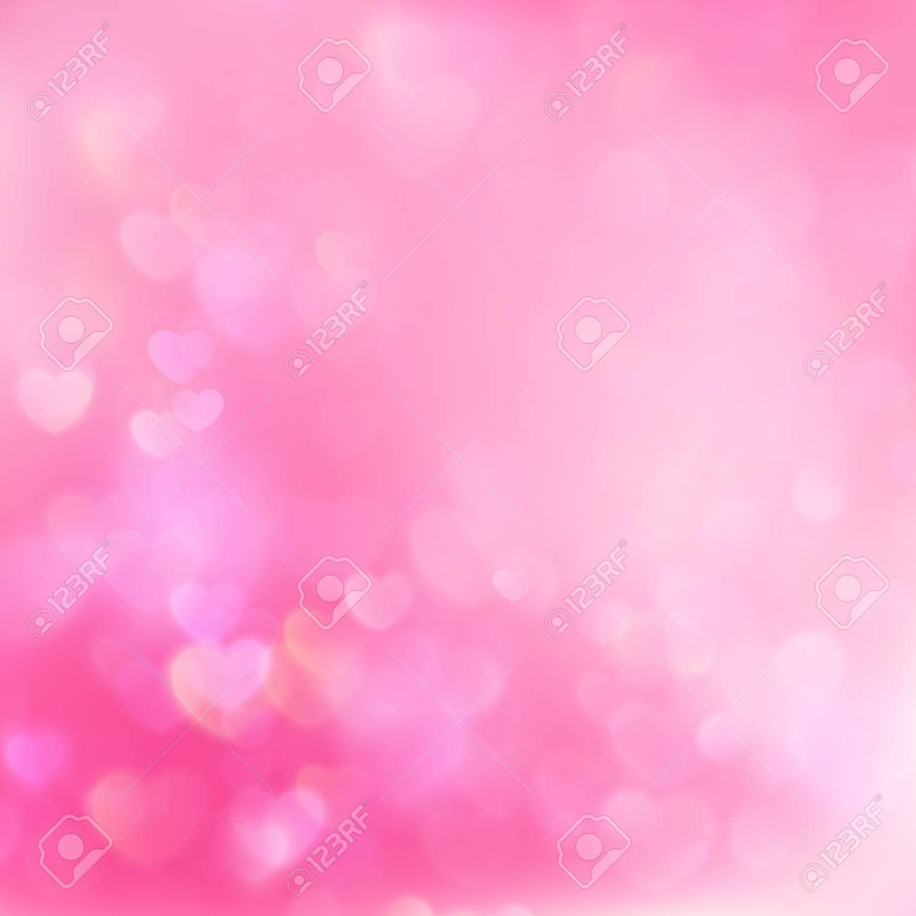 Valentine Hearts Abstract Pink Background Stvalentine S Day
