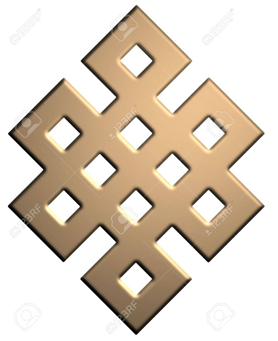 Gold Mystic Knot Symbol Stock Photo - 5934615