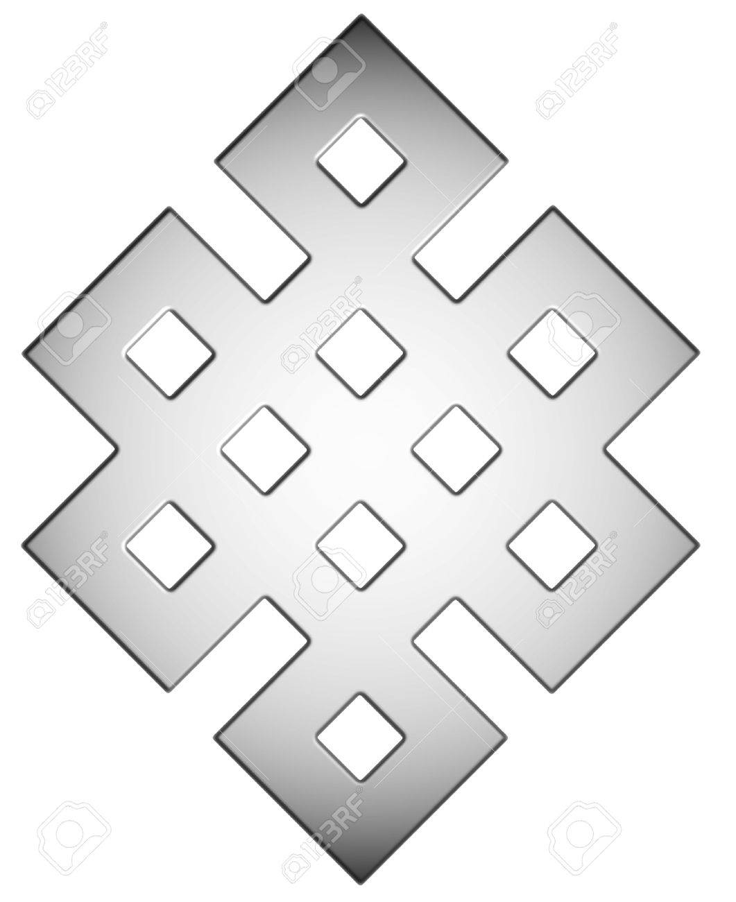 Silver Mystic Knot Symbol Stock Photo Picture And Royalty Free