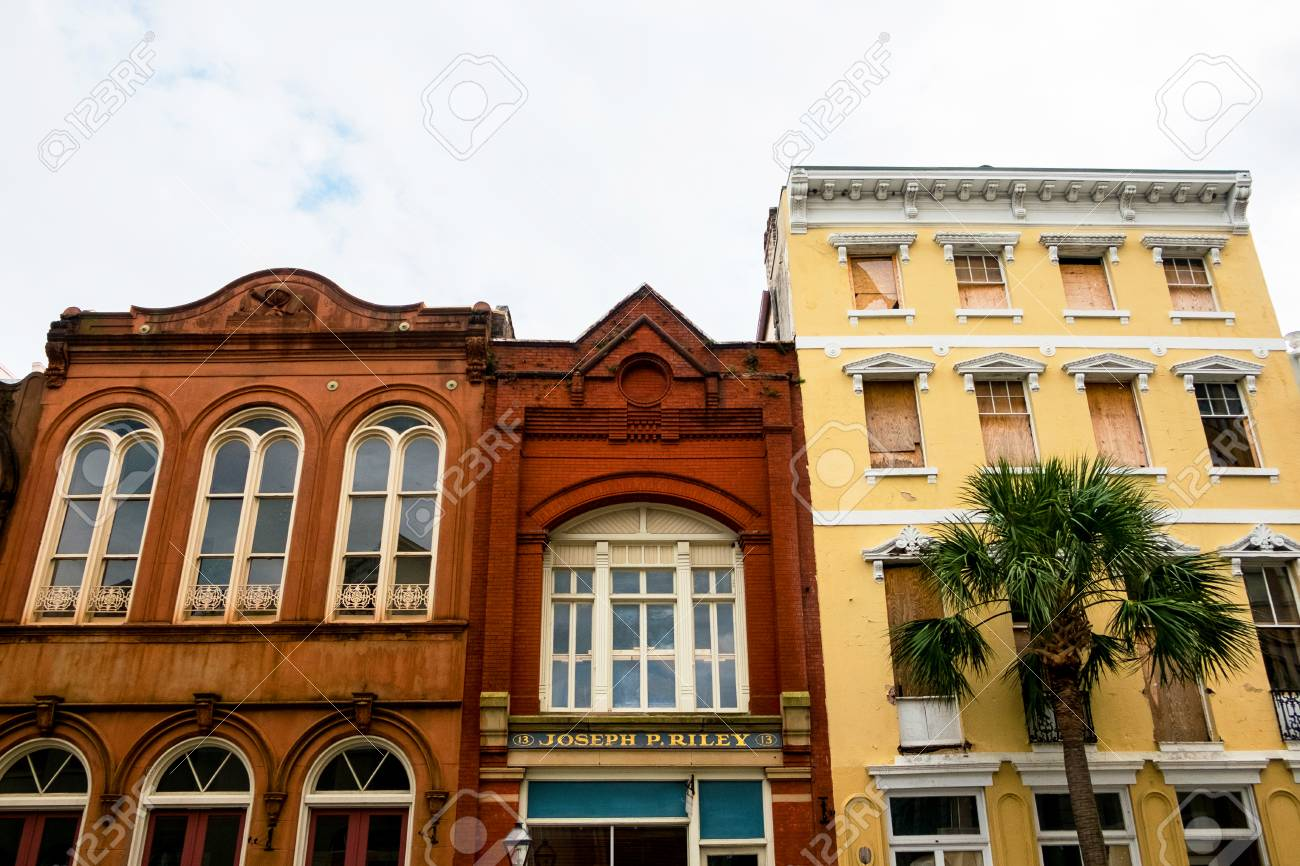 Old American Houses In Colonial Style Architecture Charleston