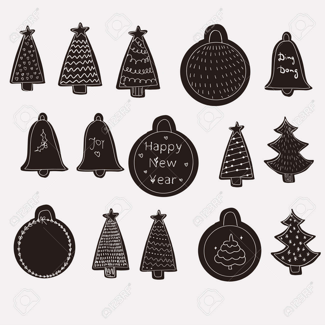 Merry Christmas and Happy New Year greetings card - 158833604
