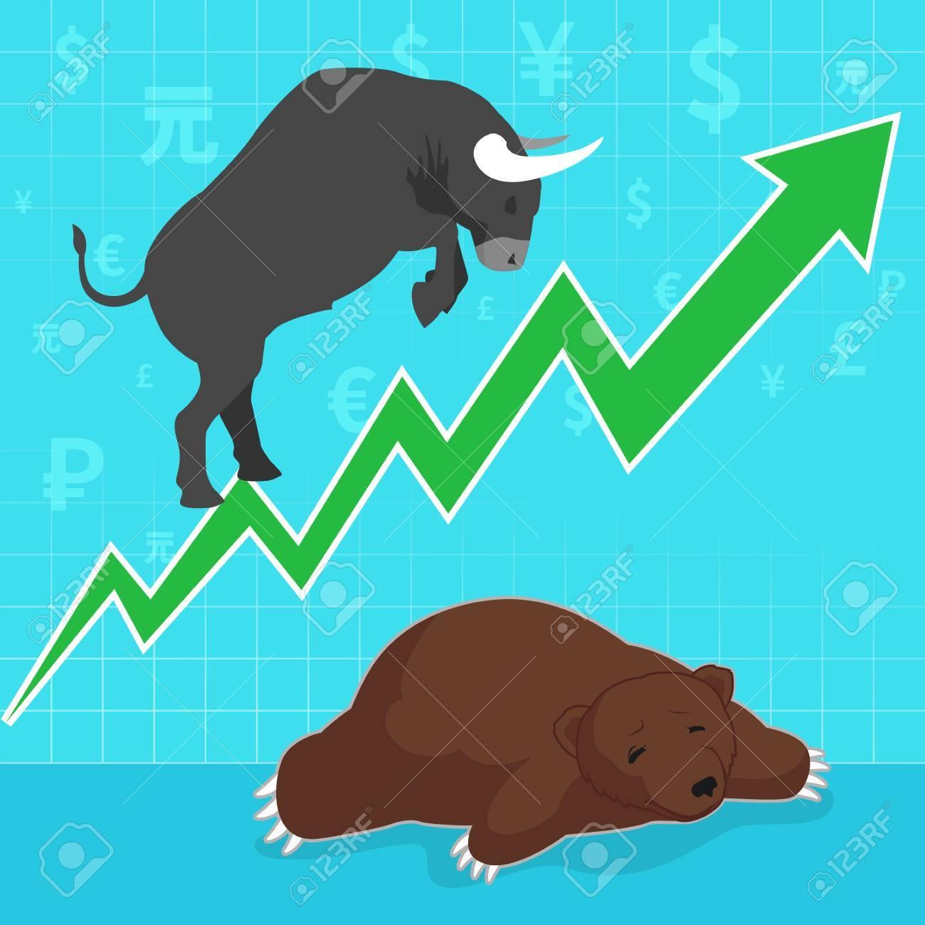 Stock market concept bull and bear - 45285235