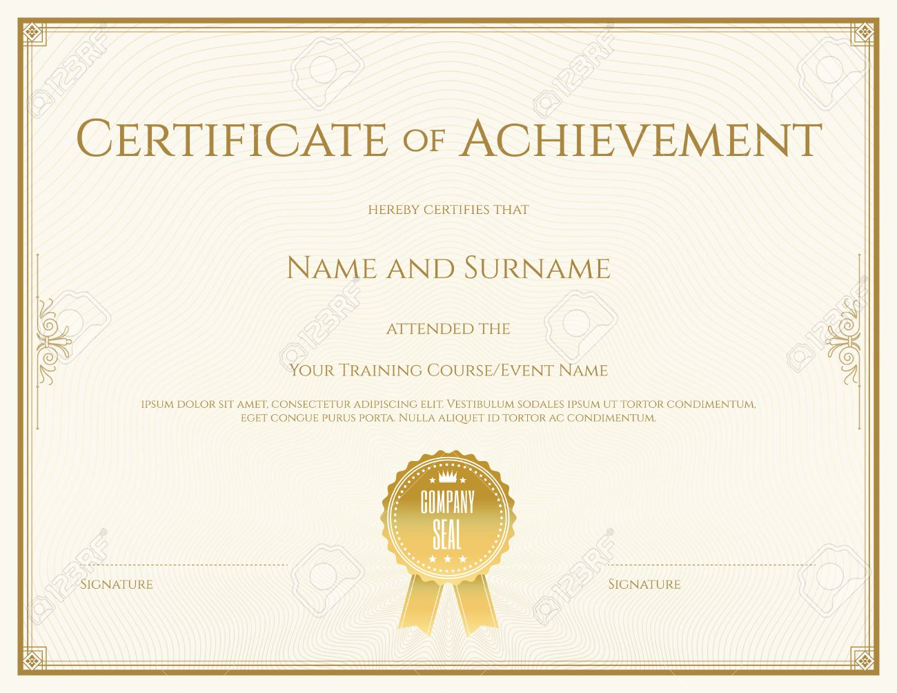 Certificate template in vector for achievement graduation completion - 50268811