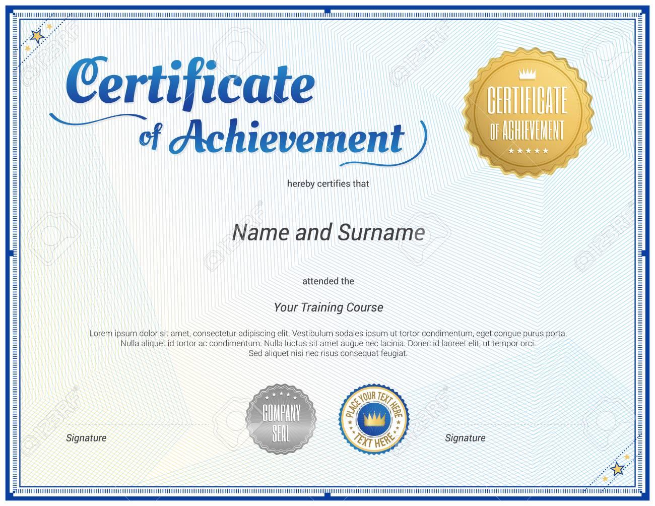 Plantilla De Certificado En El Vector Para La Terminación De La ...