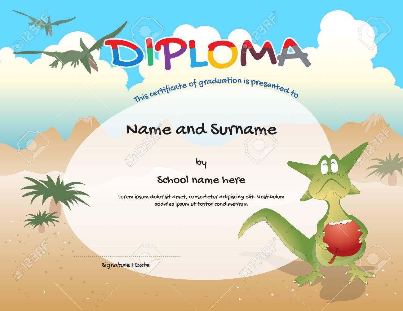 Plantilla De Certificado De Jardín De Infantes Para La Graduación De ...