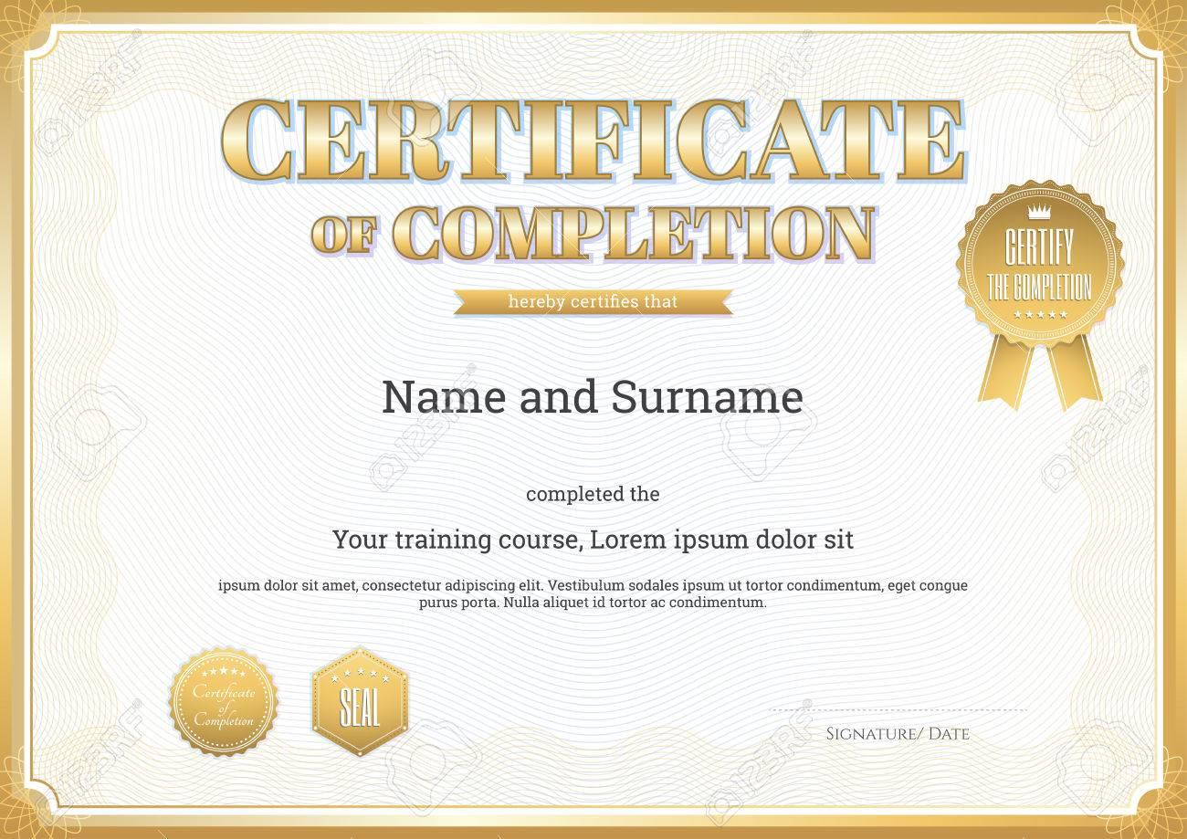 Zertifikatvorlage Für Die Erreichung Graduierung Abschluss ...