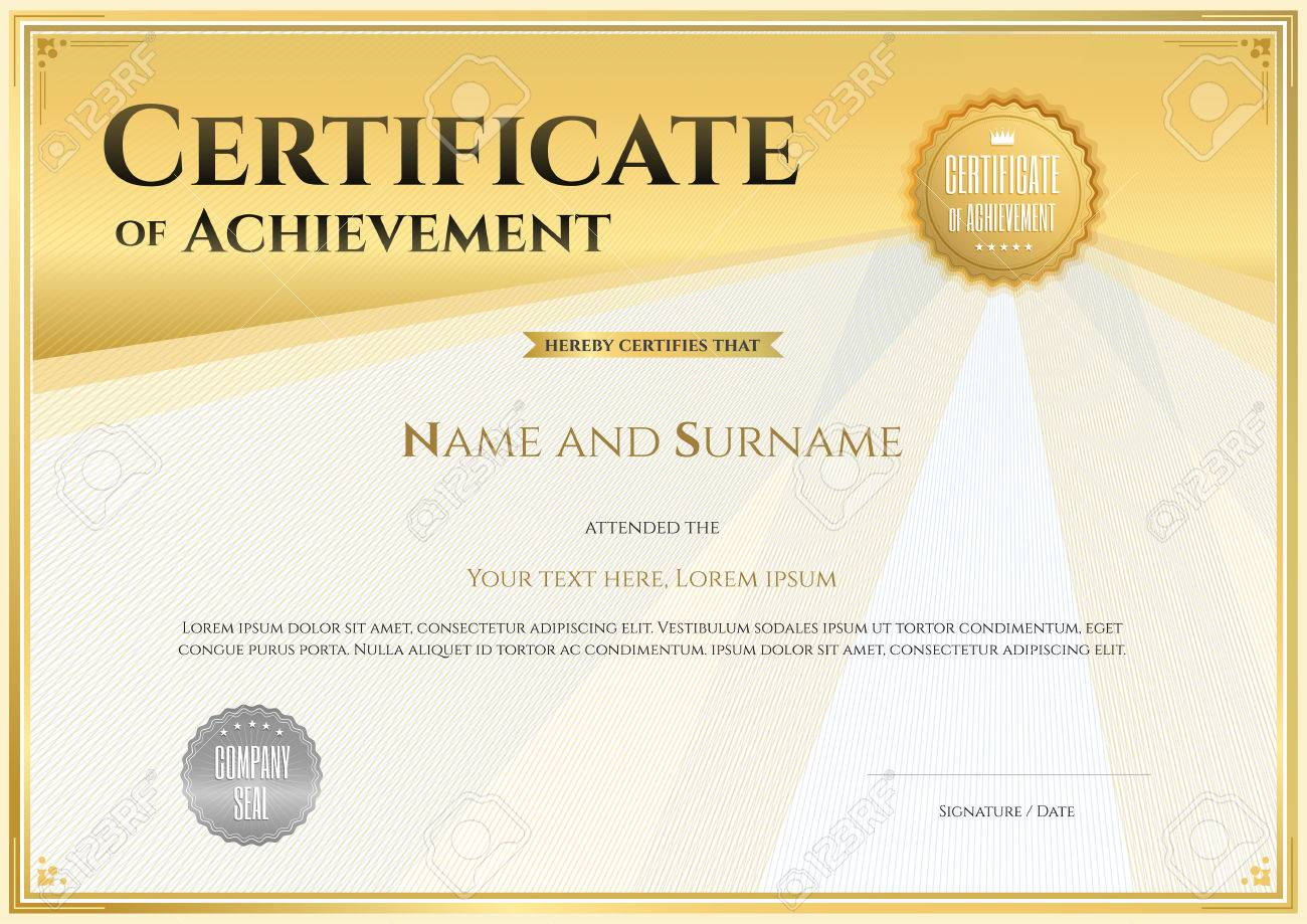 Certificate Template In Vector For Achievement Graduation Completion ...