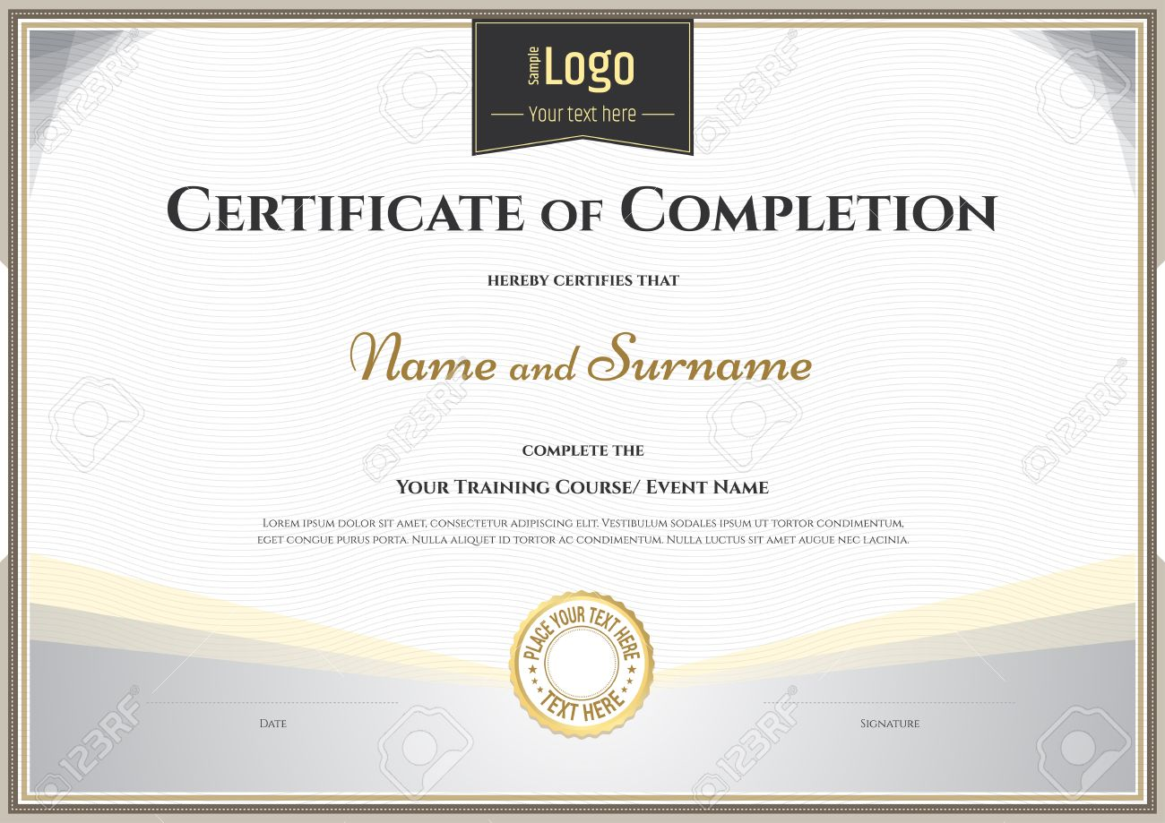 Certificate Achievement Template  Certificate Achievement Template